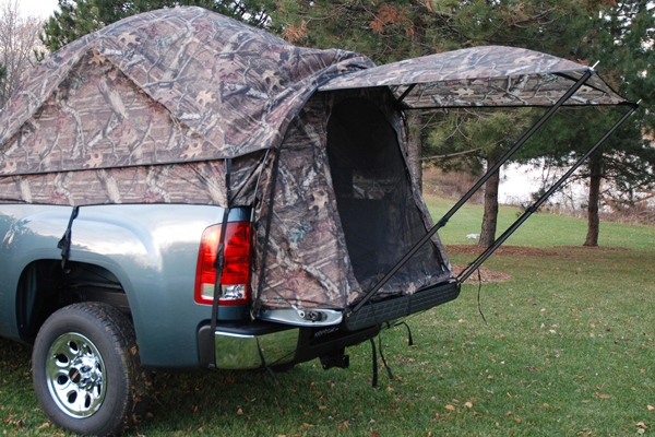 #2 Napier Full Size Camo Sportz Truck Tent w/ Rain Fly & 2016-2017 Truck Bed Camping Accessories:5 Best Truck Tents For ...